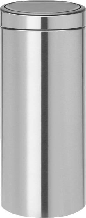 Brabantia Touch Bin 30 Liter Afvalemmer.Brabantia Touch Bin Afvalverzamelaar 30 Liter Brilliant Steel